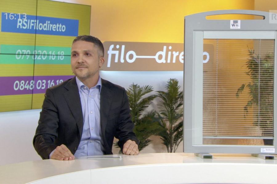 """iWin presented the project during the TV program """"Filo diretto"""" on LA1-RSI"""