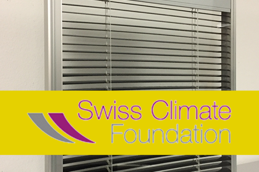 16 November 2020, another important recognition for iWin: the Swiss Climate Foundation will support our project